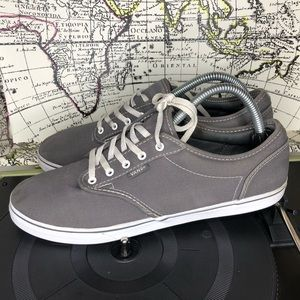 Vans gray low top sneaker women's size 10
